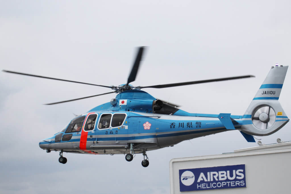 Japan's National Police Agency has also taken delivery of an AS365 N3+ and H155 ordered in 2015. Airbus Helicopters Photo