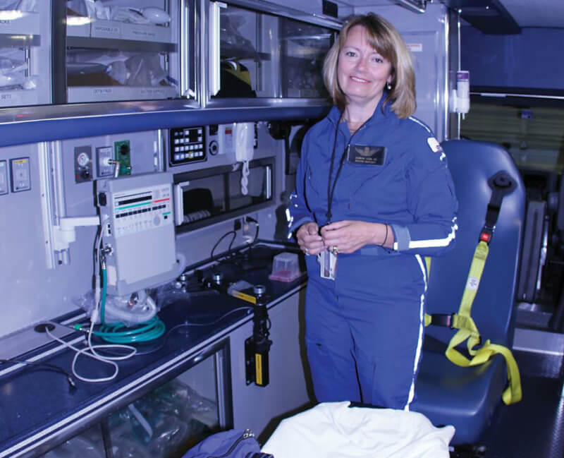 Dr. Suzanne Wedel was instrumental in guiding MedFlight into what it is today: a critical care transport system that values safety and quality of patient care. Boston MedFlight Photo