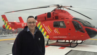 In his new role of chief executive officer, Jenkins will provide strategic leadership and direction for our charity, continuing to ensure it is well administered and builds on growth in both operational capability and revenue. London's Air Ambulance Photo
