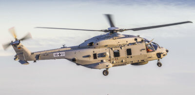 Once deliveries of the NH90 Sea Lion begin at the end of 2019, the aircraft will take on a range of roles including search-and-rescue missions, maritime reconnaissance, Special Forces missions, as well as personnel and materiel transportation tasks. Airbus Photo
