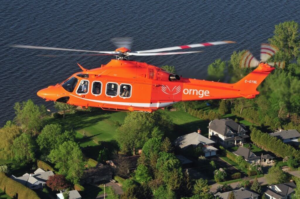 Ornge operates a fleet of 12 Leonardo AW139 helicopters from eight bases across the province of Ontario. Mike Reyno Photo