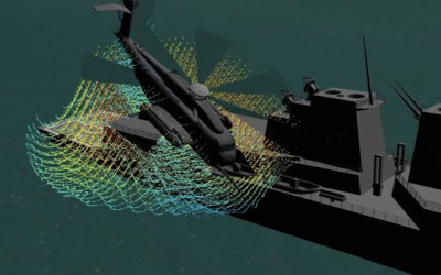 New simulation software being developed by the Technical University of Munich aims to better model turbulent airflow near ships, buildings, and other large objects. TUM Image