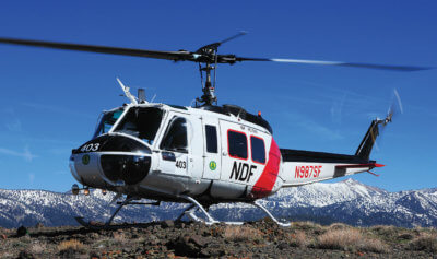 Having to always work in a high-altitude environment makes flying for the Nevada Division of Forestry (NDF) Air Operations a constant challenge — but the terrain is some of the most spectacular in the world. Photos by Skip Robinson