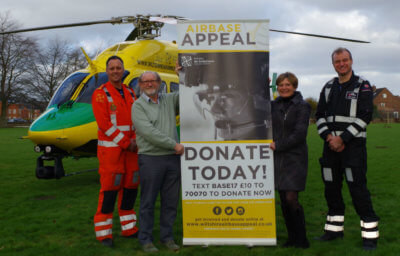 Wiltshire Air Ambulance was granted full planning permission for its new operations center on land at Outmarsh Farm, Semington, on Jan. 12, 2017, and launched its Airbase Appeal on Jan. 19 to raise the remaining £1.25 million (approx. US$1.54) needed. WAA Photo
