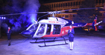 Bell Helicopter and Simrik Air commemorated the delivery at a special ceremony in Kathmandu, Nepal. Bell Photo