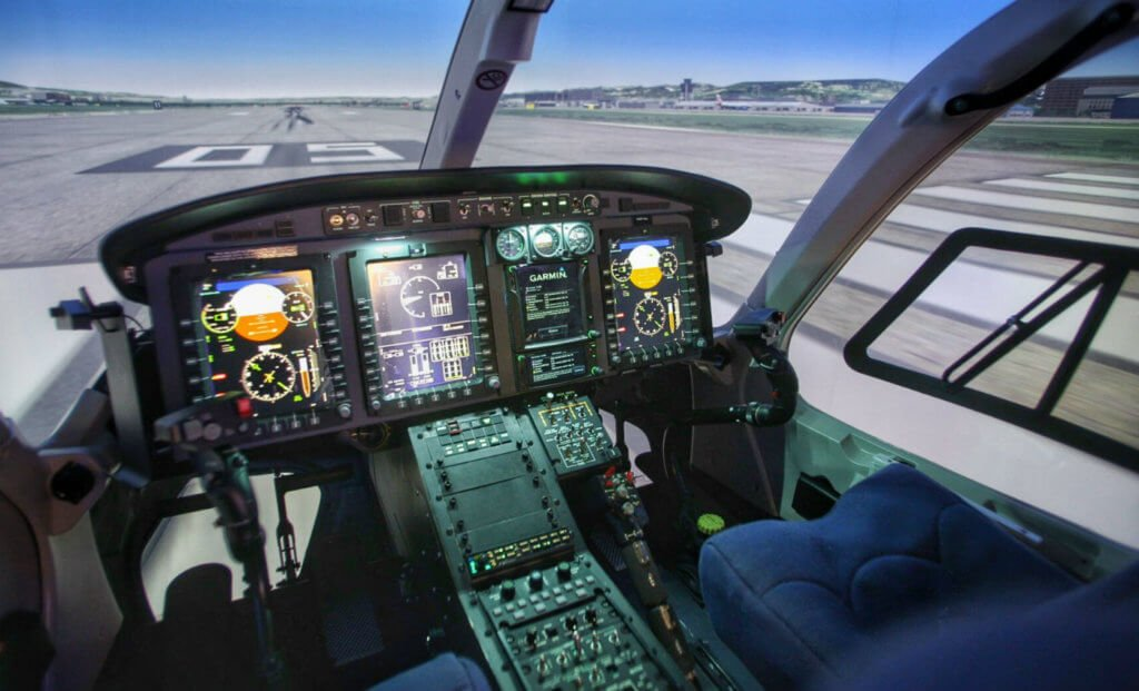 Built upon TRU's ODYSSEY H platform, the Bell 429 full-flight simulator was developed especially for the unique training requirements and needs of the helicopter pilot. Bell Photo
