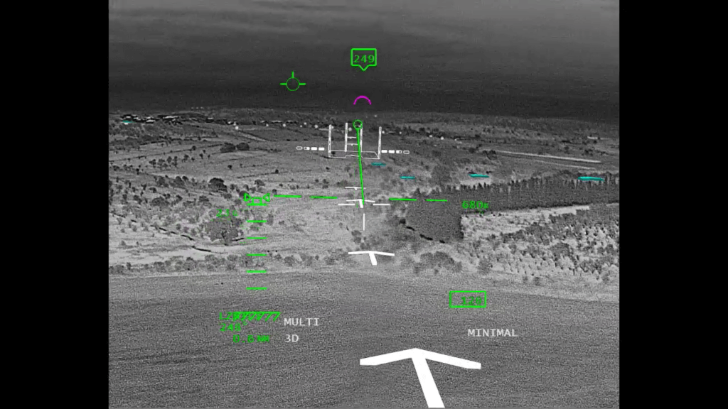 Prior to BrightNite, flight crews have had to rely on night vision goggles to accomplish their mission. Elbit Photo
