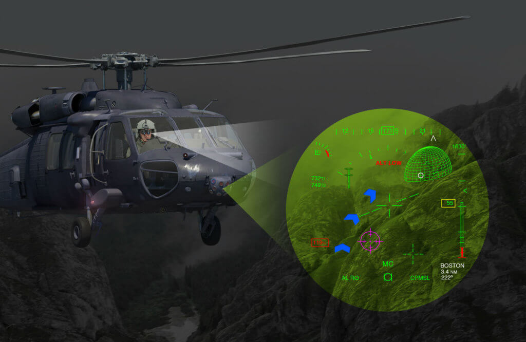 BrightNite is a multi-spectral end-to-end panoramic piloting solution that delivers the landscape scenery directly to both eyes of the pilot, including 2D flight Symbology and 3D mission symbology, enabling intuitive head-up eyes-out orientation flight in pitch dark and other low visibility landing conditions. Elbit Photo