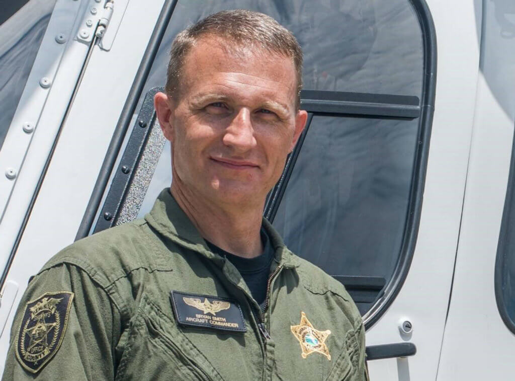 A pilot since 1992, Bryan Smith flies rotary-and fixed-wing aircraft for the Seminole County Sheriff's Office, where he serves as safety officer and instructor pilot. HAI Photo