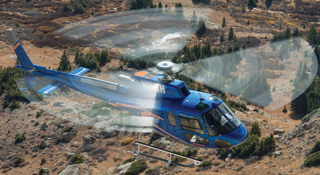 BLR Aerospace's test bed H125 flies near Gunnison, Colorado, in October 2016, near the end of a two-year development program. The company's FastFin system for the H125 will soon be available both as a retrofit kit and a factory option on new aircraft. Photos by Dan Megna