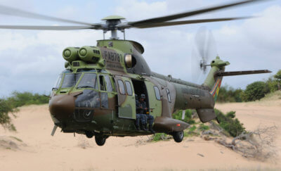 Since the Bolivian Government put six Super Puma H215 heavy helicopters on the front lines, the number of hectares used to grow coca in Bolivia has dropped. Airbus Photos