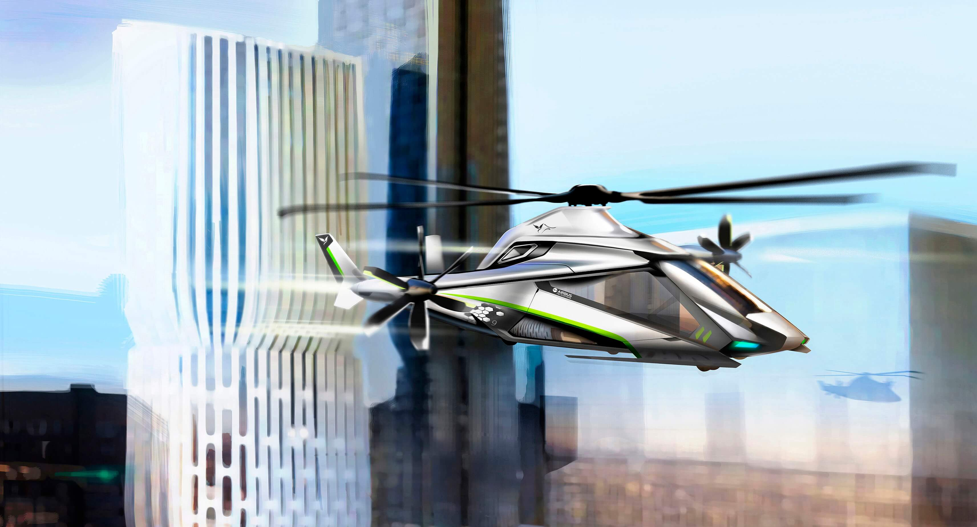 Airbus Helicopters expects to fly its Clean Sky 2 high-speed demonstrator in 2019. Airbus Helicopters Design Studio Image