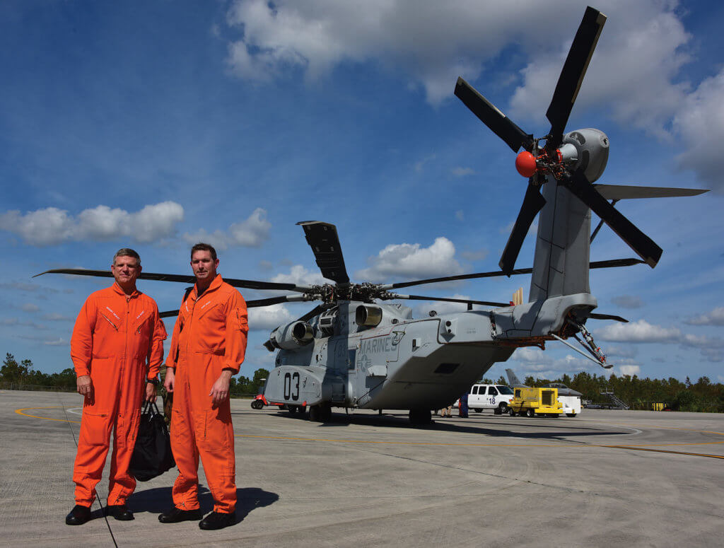 Sikorsky expects the CH-53K baseline flight testing program to last another two-and-a-half years. Marine pilots integrated with Sikorsky's flight test team at an early stage of development.