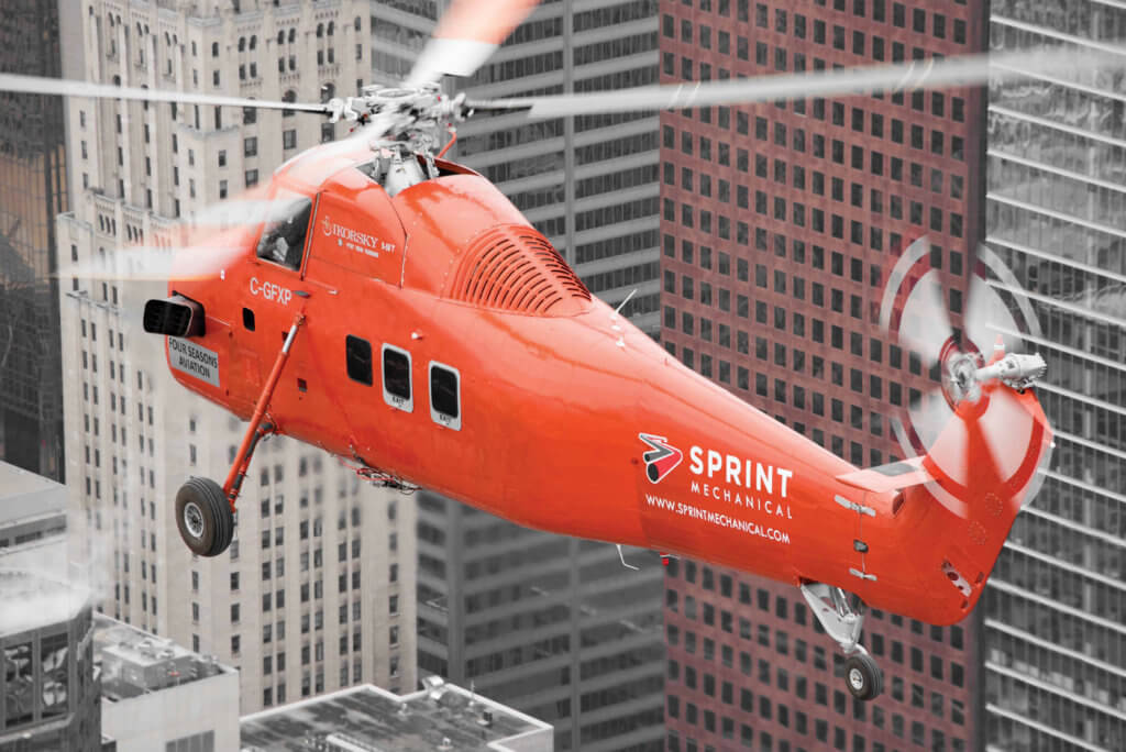 The aircraft was purchased from Fate, Texas-based California Helicopter Airways. The company owns the S-58's type certificate, and as well as providing support for the type, rebuilds the occasional aircraft as time permits.