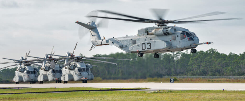 Two of the four CH-53K flight test vehicles are dedicated to general flight envelope expansion. Another will be used for focused testing of the propulsion systems, while the fourth will be used to test avionics and flight controls. Sikorsky Photo