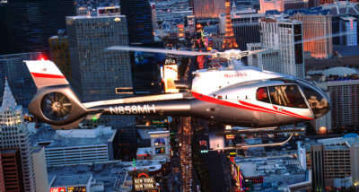 All flights will take place in an Airbus EC130/H130 ECO-Star helicopter. Maverick Helicopters Photo
