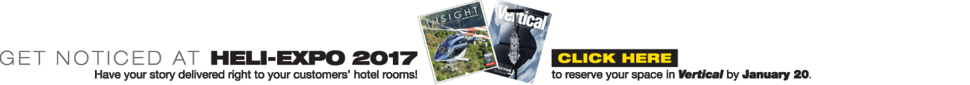 Get noticed at Heli-Expo 2017. Have your story delivered right to your customer's hotel rooms!