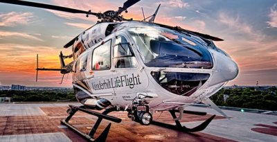 Vanderbilt LifeFlight provides critical care air transport, as well as ground ambulance and event medical services from its seven helicopter bases, one airplane base, eight ground ambulances, an emergency communications center. Vanderbilt LifeFlight Photo