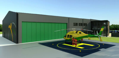 The recent donation given by the HELP Appeal will go towards the helipad and associated costs at the charity's new airbase at Outmarsh Farm, Semington, near Melksham. WAA Photo