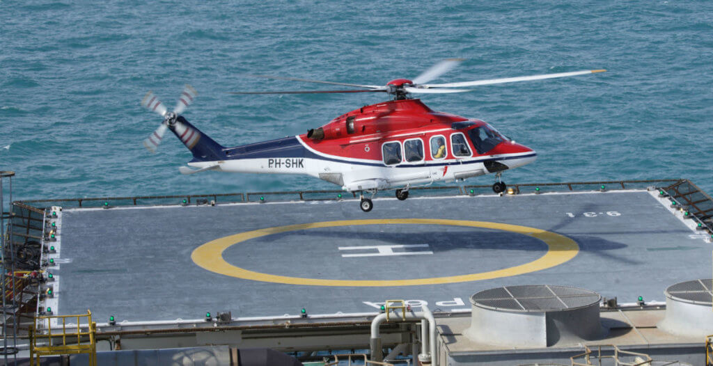 Throughout its 70-year history, CHC has evolved from a single helicopter to a global leader in offshore transport, search-and-rescue, utility and emergency medical services. Leonardo Photo