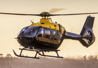 The Pulselite system has been approved for 67 aircraft, including all EC135, H135 (pictured here), EC145, H145, and AS350 models. Airbus Photo
