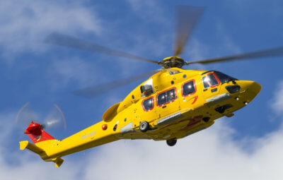 The recent 10,000-hour milestone was accumulated by NHV's fleet of eight H175s. NHV Photo