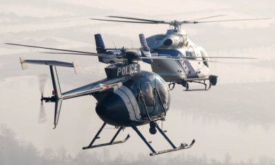 The Hungarian National Police MD 902s are equipped for night vision, three-axis auto pilot, traffic collision avoidance system, digital video, high performance surveillance equipment, and cargo hooks permitting 3,000 pounds of external load operations. MD Helicopters Photo