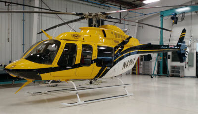 Helicopter Express will take delivery of its second Eagle 407HP helicopter at HAI Heli‐Expo 2017, which will be used to support firefighting missions throughout the United States. Eagle Copters Photo