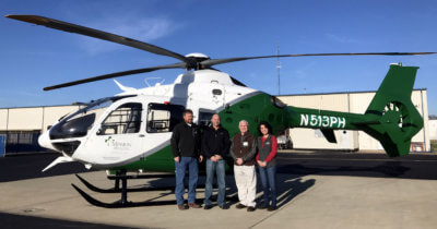 Metro recently completed an EC135 T2+ for the MAMA program at its completion center in Shreveport, Louisiana. The aircraft is equipped with the Outerlink IRIS system for flight data, voice and video monitoring, flight following and push-to-talk communications. Metro Photo
