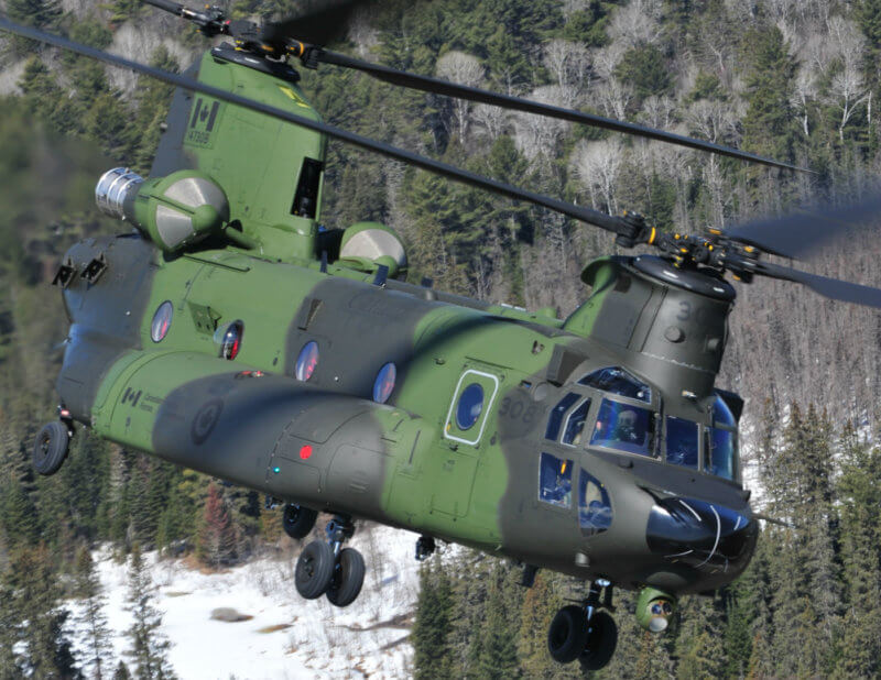 "At present, the RCAF does not have an approved project to upgrade the CH-147F Chinook fleet, but it is seeking to improve the weapons system through the normal project approval process to ""maintain relevance and compliance."" Mike Reyno Photo"