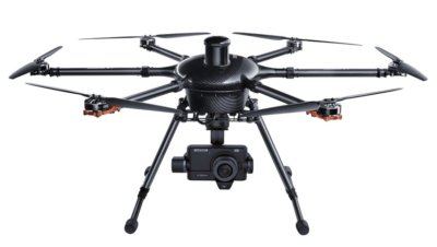 The enhanced six-rotor H920 Plus sUAS now includes mission task modes and waypoints, refined ST16 pro ground station with aerial maps, quick-disconnect propellers and support for multiple camera platforms. Yuneec Photo