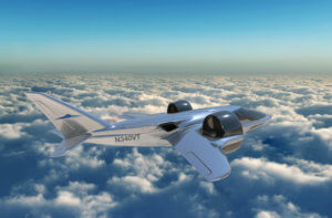 The TriFan 600 is a major breakthrough in aviation and air travel. The six-seat airplane will have the speed, range and comfort of a business jet and the ability to take off and land vertically, like a helicopter. It will travel at over 300 miles an hour, with a range of over 1,200 miles. XTI Photo