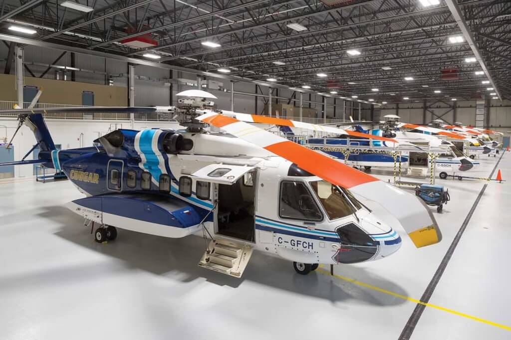 Running along the rear of the hangar, underneath the mezzanine, are various rooms for different maintenance activities, such as avionics, composites, and batteries. Heath Moffatt Photo