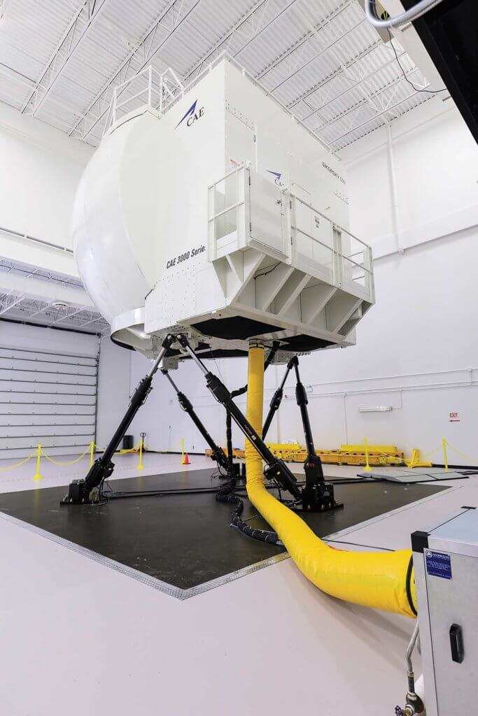 CAE said its Series 3000 simulators can replicate up to 400 malfunctions. Cougar uses it for initial, recurrent, night proficiency, and search-and-rescue training.