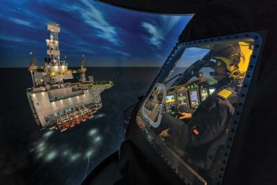 The helicopter training and R&D center, located in Mount Pearl, N.L., was built and is run by Montreal, Quebec-based CAE. It contains a Sikorsky S-92 simulator that is the first Level D simulator in Canada to be compatible with night vision goggles.