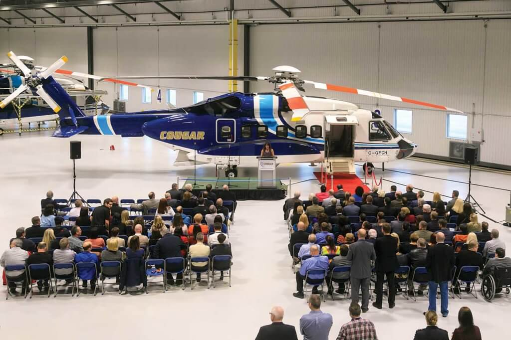 The opening ceremony drew quite a crowd, with attendees offered tours of the new hangar and passenger processing facility. Heath Moffatt Photo