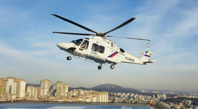 Helikorea required a solution that could support real-time awareness for its AW169 emergency medical missions while integrating with the standard Korean Medical Centre flight tracking system. Skytrac Photo