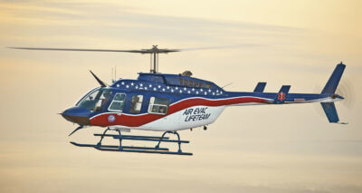 Able will continue to complete flight deck upgrades for Air Evac Lifeteam into the second quarter, completing a 126-aircraft contract that creates a common configuration across all aircraft. Able Aerospace Photo