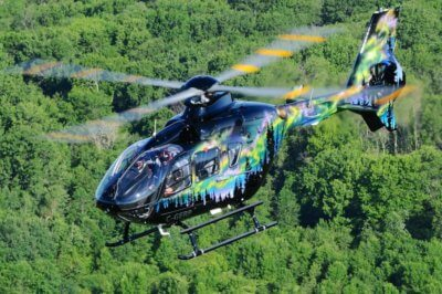EC135 helicopter in flight