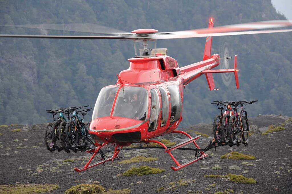Platinum designed, built, and gained a supplemental type certificate for a bike rike for the Bell 407. It can carry up to eight bikes.