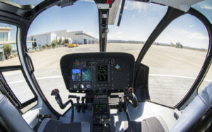 The Garmin G500H avionics upgrade on the Airbus H125 and H130 singles is aimed at improving safety. Airbus Photo