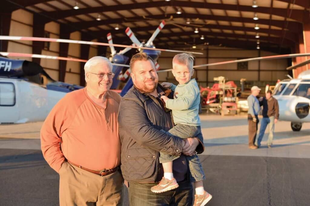 Three generations of Brainerds: Chuck (left), son Bart (middle) and Chuck's grandson.