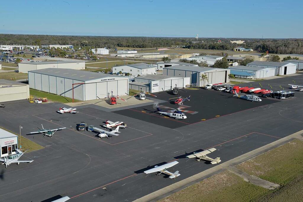 The Leesberg, Florida, base -- 35 miles northwest of Orlando -- has evolved over the years. The two large hangars were the most recent additions to accommodate the growing Black Hawk fleet.