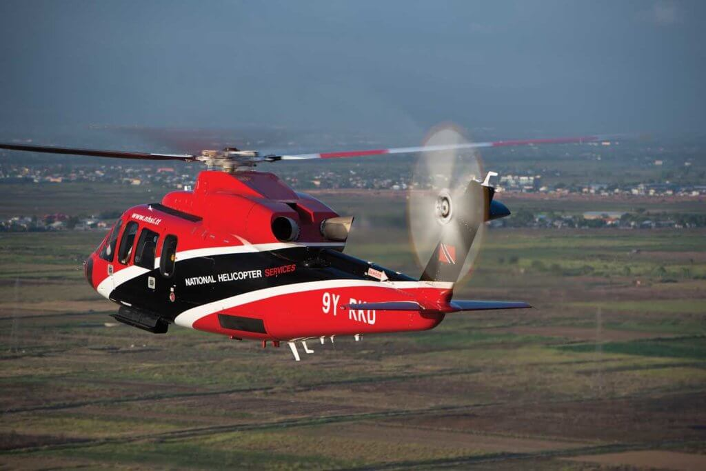 A Sikorsky S-76D, flown by National Helicopter Services of Trinidad and Tobago. Providing the thrust are two PW210S engines. Dan Megna Photo