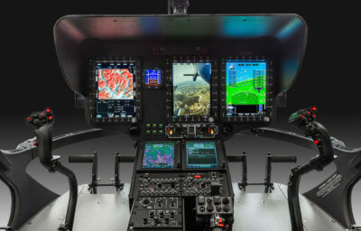 The Airbus developed Helionix system, an advanced avionics suite that increases mission flexibility and enhances flight safety, will be standard equipment on new production H135s. Airbus Photo