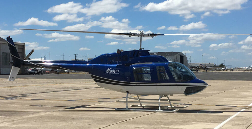 Collaboration between Heliwest, Bell Helicopter subsidiary Aeronautical Accessories, and VHA, assisted Melbourne-based Australasian Jet complete installation, ground tests, and flights from Essendon Airport. Heliwest Photo