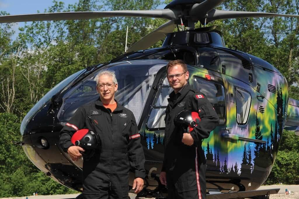 Phoenix Heli-Flight president Paul Spring (left) has been one of the helicopter industry's most vocal champions of FDM. Mike Reyno Photo