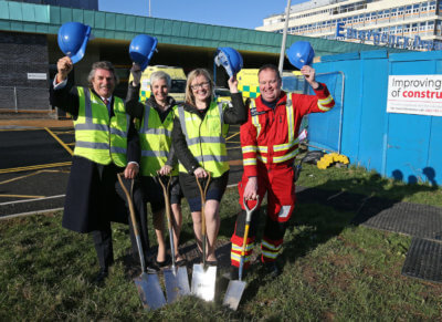From left: Robert Bertram, chief executive, HELP Appeal; Sharon Scott, divisional medical director for surgery and anaesthesia, Aintree University Hospital; Catherine McMahon, consultant neurosurgeon, The Walton Centre; and Mark Evans, clinical service manager, North West Air Ambulance. HELP Appeal Photo