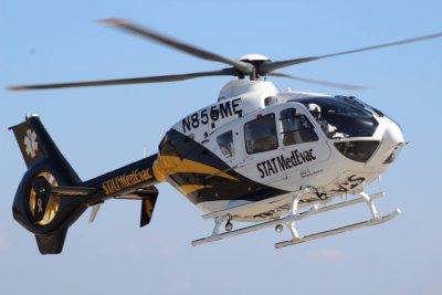 STAT Medevac helicopter in flight