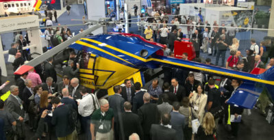 Marenco Swisshelicopter's SKYe SH09 was well received during HAI Heli-Expo 2017, in Dallas, Texas. Marenco Swisshelicopter Photo